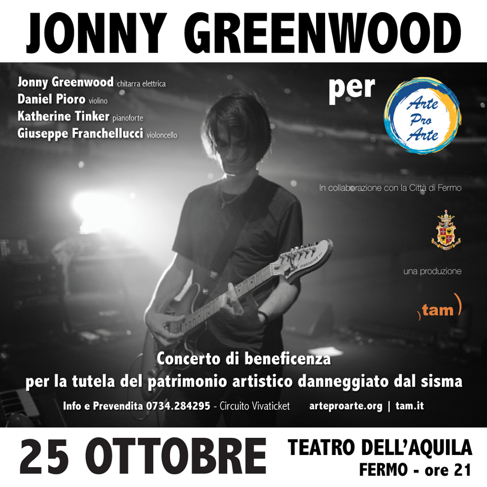 Jonny Greenwood @ Teatro dell'Aquila, Fermo @ Teatro dell'Aquila | Fermo | Marche | Italia