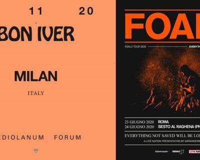 Breaking news: Bon Iver, Foals