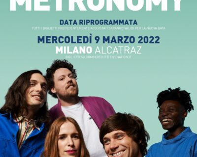 Le news di oggi: Metronomy, Fenne Lily, Benjamin Francis Leftwich, The Reds Pinks And Purples, Lana Del Rey